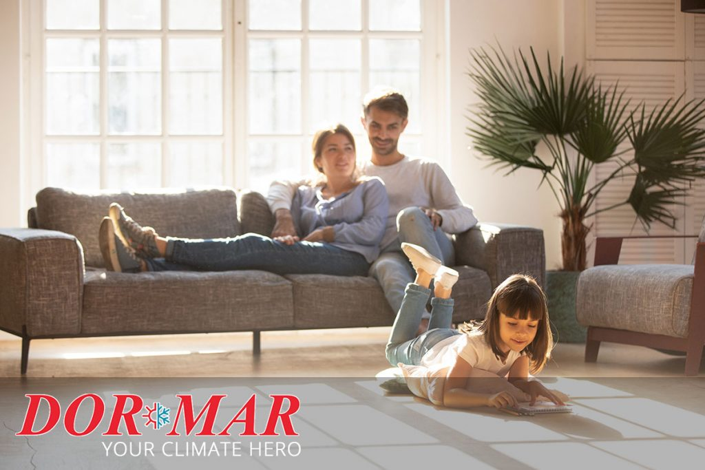 Dor-Mar customers enjoying warmth from their new Rheem furnace