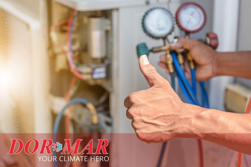 Professional air conditioning technician