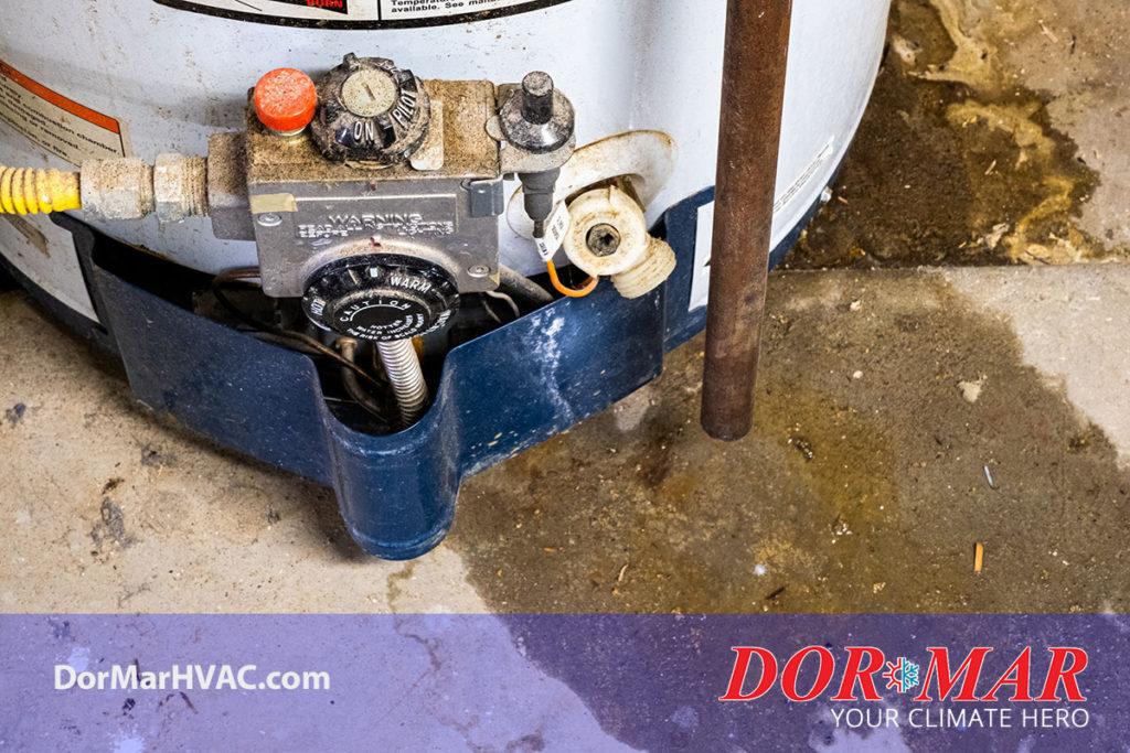 Annual hot water tank sediment flush in Newark
